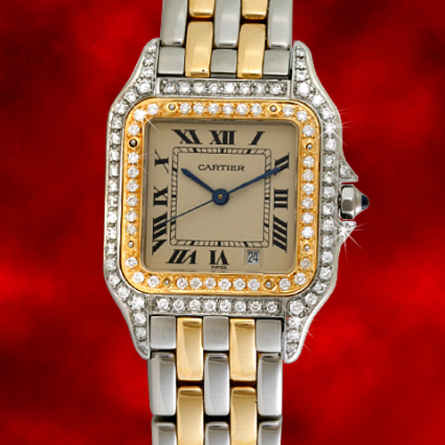Cartier Gold Panthere Watch Cartier Diamond Gold Watch