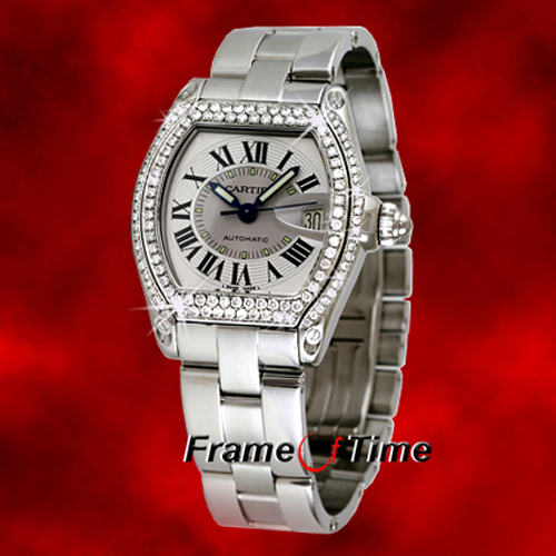 cartier roadster stainless steel automatic