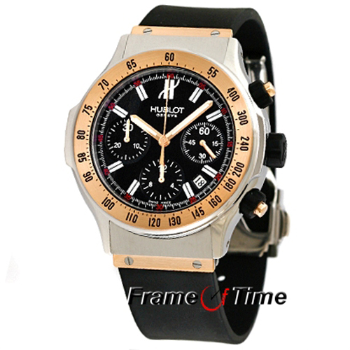 Hublot Classic Super B Men 1921.NL40.7 18k Rose Gold Chronograph Black Rubber Wa
