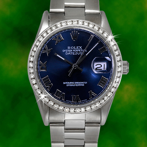 Rolex Mens Diamond Dat...