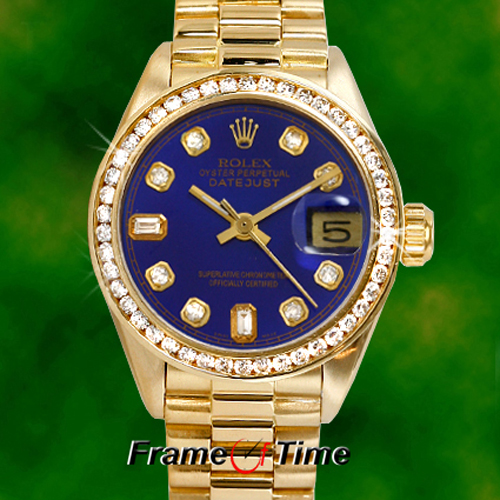 Rolex Watch With Diamonds (gold