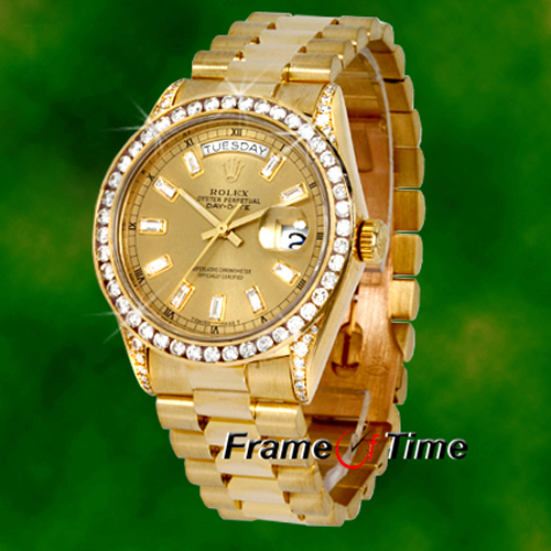 Gold Diamond Watches For Men Rolex