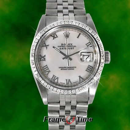 Rolex Datejust Gold Diamonds Man