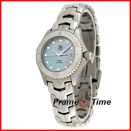 Tag Heuer Ladies Link Blue Mother of Pearl Diamond DIal WJ1317.BA0573 Watch